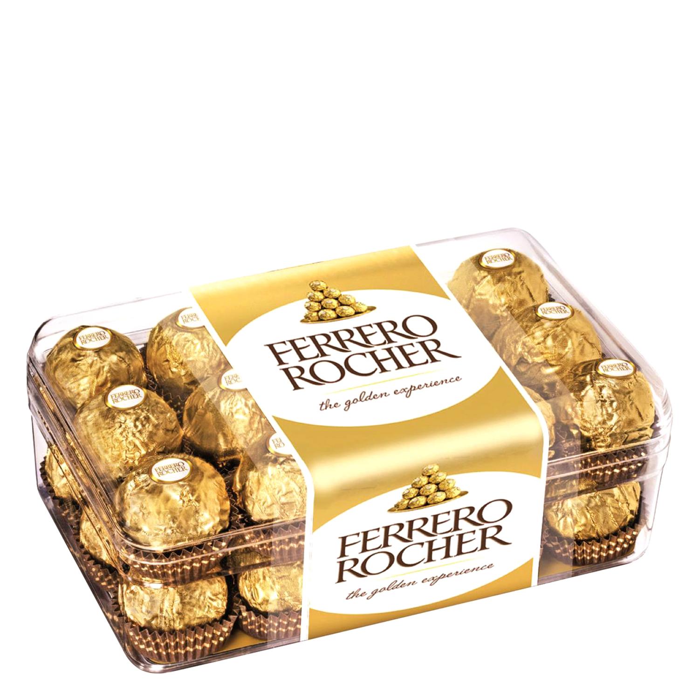 100% originales ventas al por mayor primer nivel Bombones de chocolate con leche y avellana Ferrero Rocher 30 ...