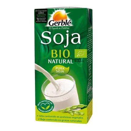 Bebida de soja natural ecológica Gerblé brik 1 l.
