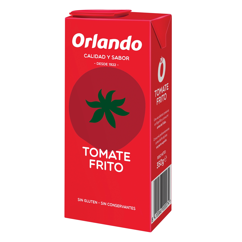 Tomate frito Orlando sin gluten brik 350 g.