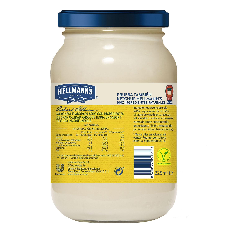 Mayonesa Hellmann's tarro 225 ml. -