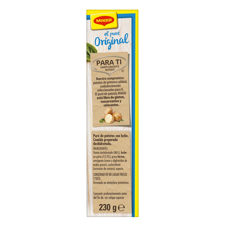 Puré de patatas con leche Maggi sin gluten 230 g. - 2