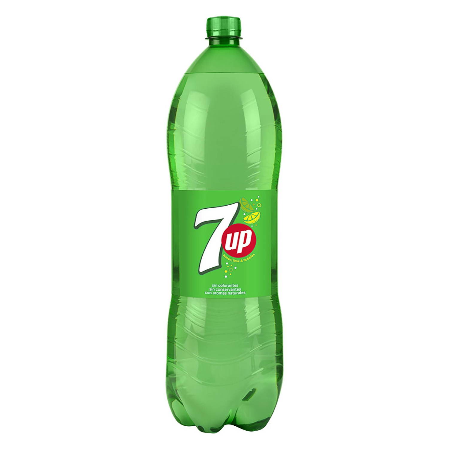 Refresco de lima-limón 7UP con gas botella 2 l.