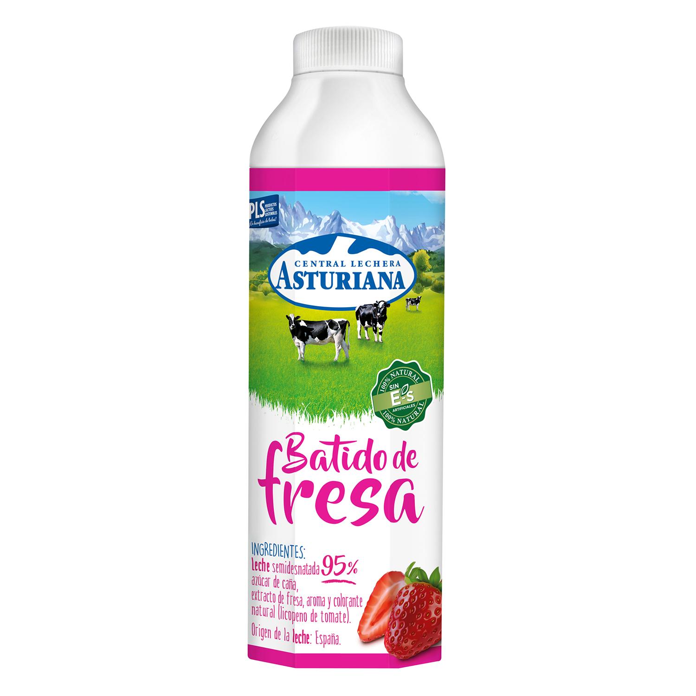 Batido de fresa Central Lechera Asturiana botella 1 l.
