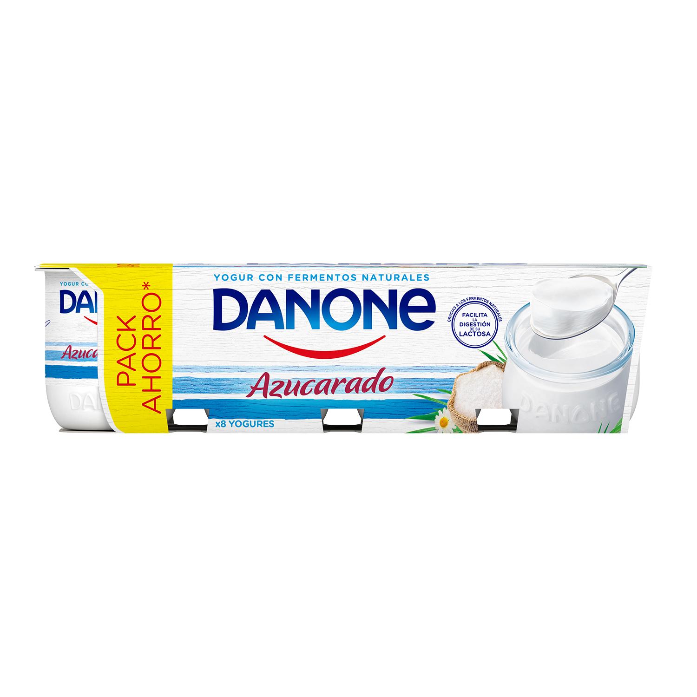 Yogur azucarado natural Danone pack de 8 unidades de 125 g. -