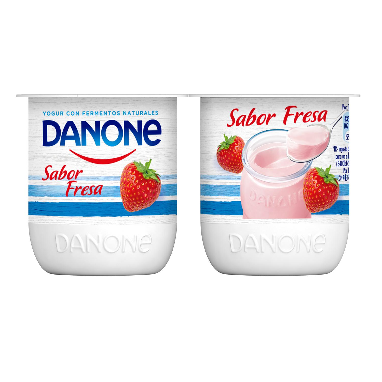 Yogur de fresa Danone pack de 4 unidades de 125 g. -
