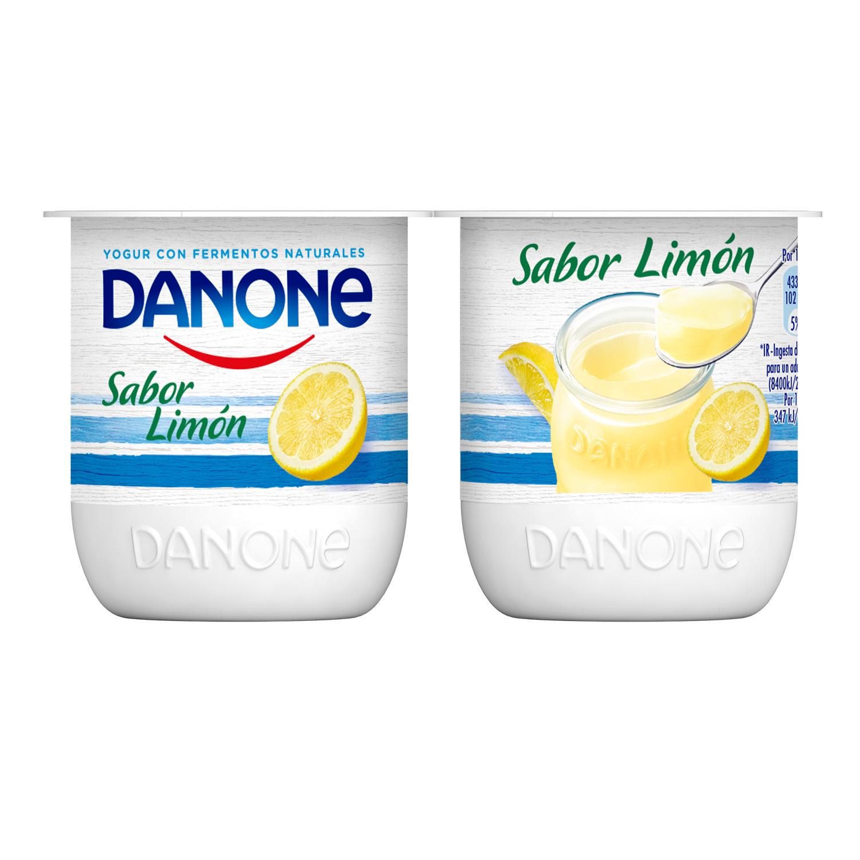 Yogur de limón Danone pack de 4 unidades de 125 g. -