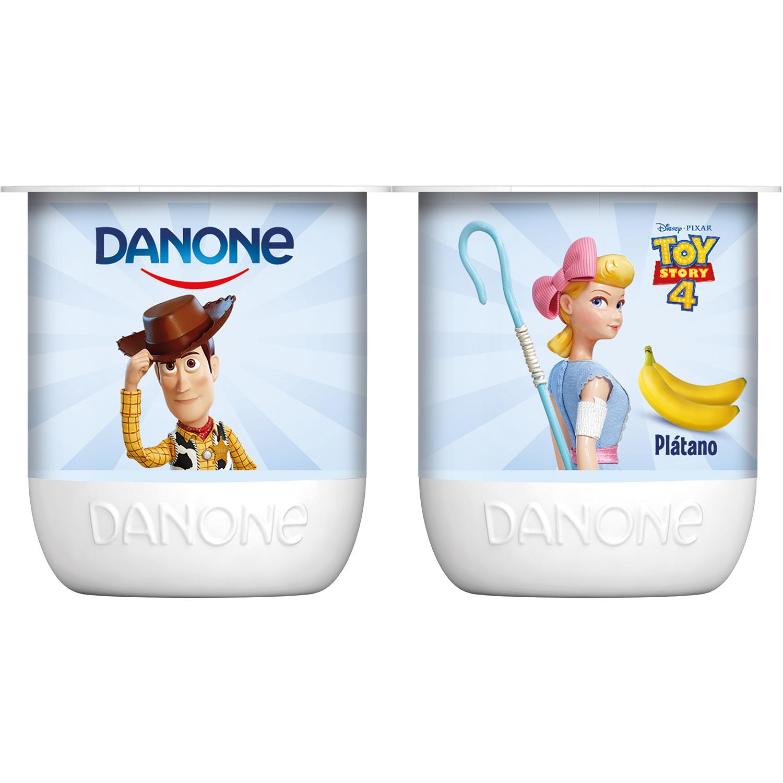 Yogur de plátano Danone pack de 4 unidades de 125 g. -
