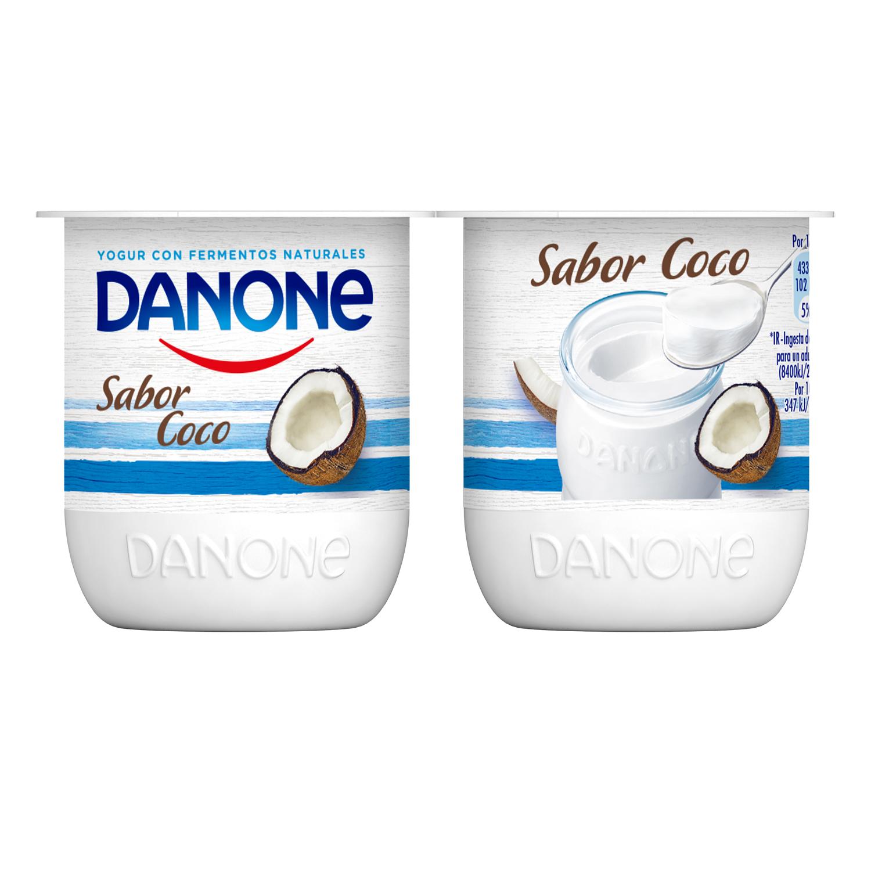 Yogur de coco Danone pack de 4 unidades de 125 g. -