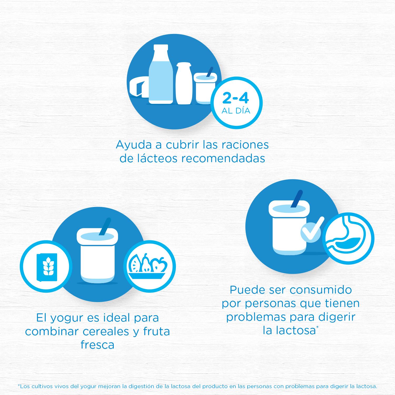 Yogur bífidus desnatado natural Danone Activia pack de 4 unidades de 125 g. -