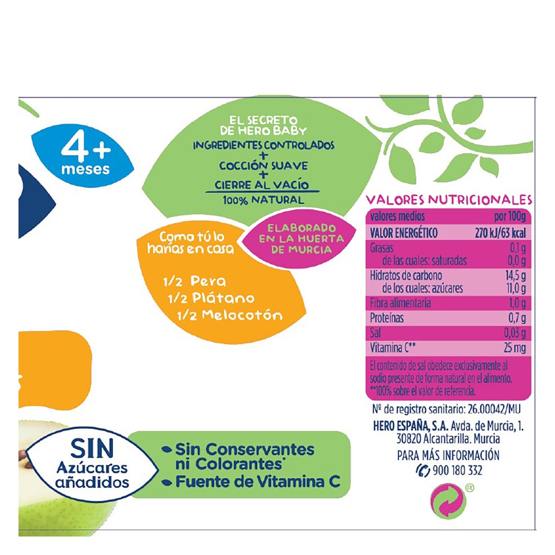 Tarrito de 3 frutas Hero Babyfruta 235 g. -