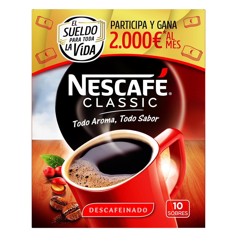 Café soluble mezcla descafeinado classic