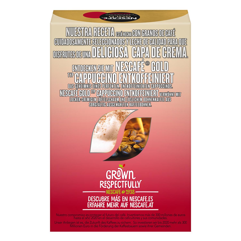 Café soluble cappuccino descafeinado en sobres Nescafé 10 unidades de 12,5 g. - 3