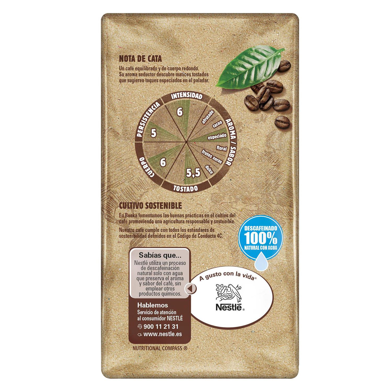 Café molido natural descafeinado del Trópico -