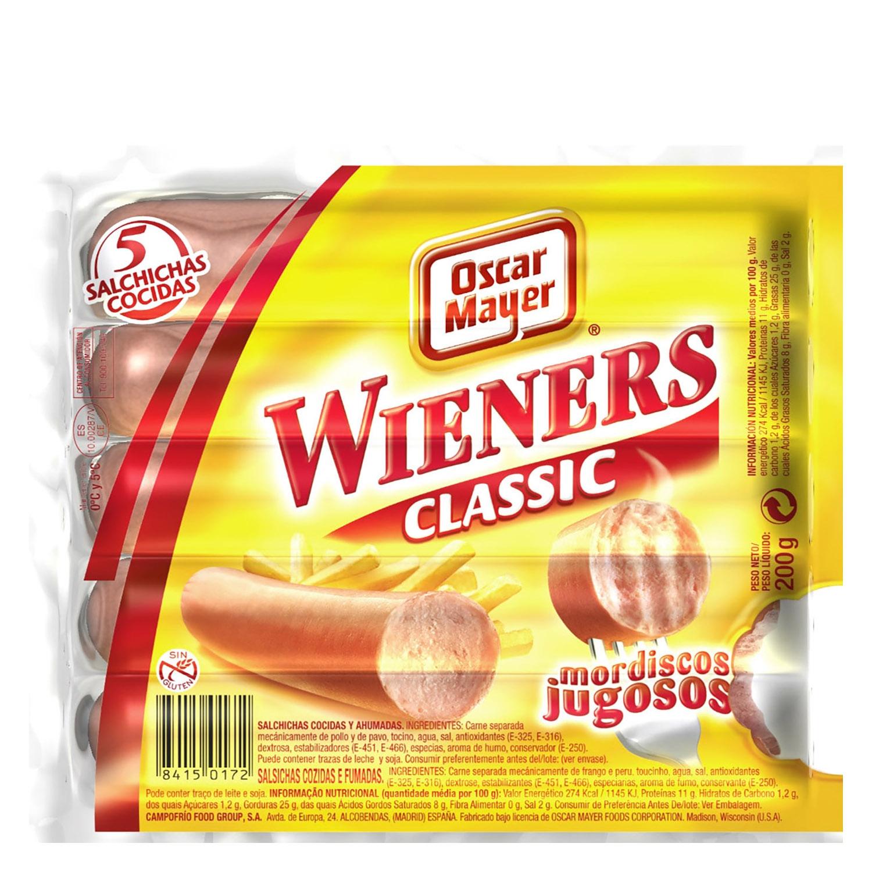 Salchichas cocidas estilo Viena Wieners