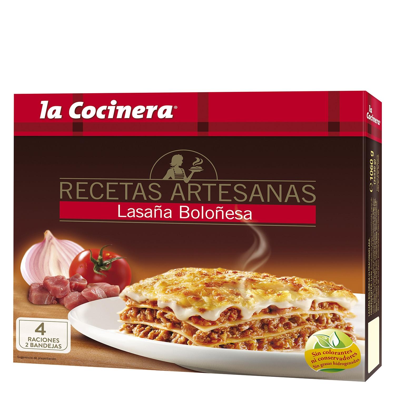 Lasaña Boloñesa La Cocinera 1060 g.