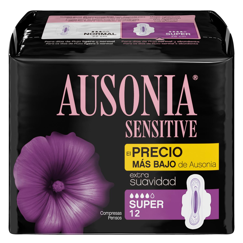 Compresas normal Sensitive Ausonia 12 ud.