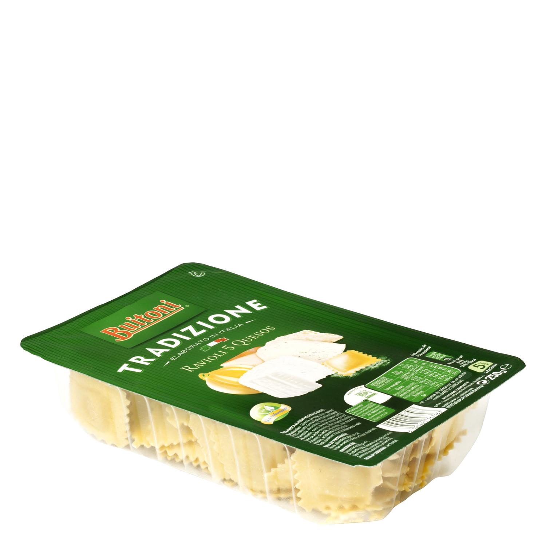 Ravioli de 5 quesos Buitoni al huevo 250 g. -