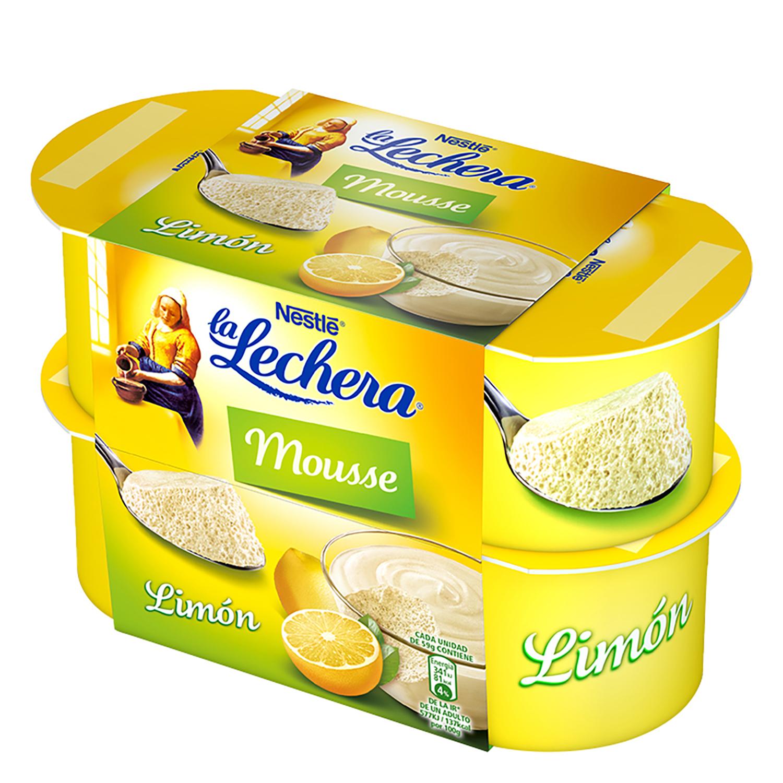 Mousse de limón Nestlé - La Lechera pack de 4 unidades de 62 g.