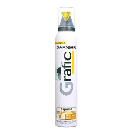 Espuma efecto Volumen fijación extra-fuerte Garnier Grafic 200 ml.