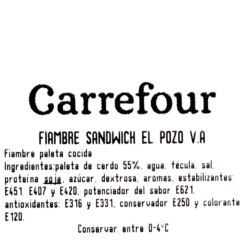 Fiambre de york sandwich ElPozo al corte 150 g aprox - 3