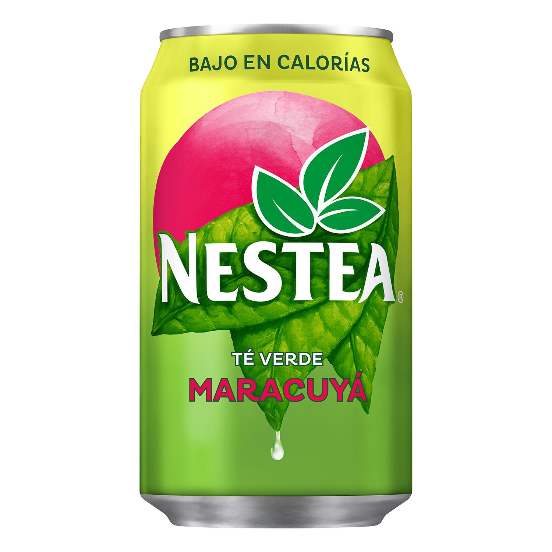 Refresco de té verde Nestea sabor maracuyá lata 33 cl.