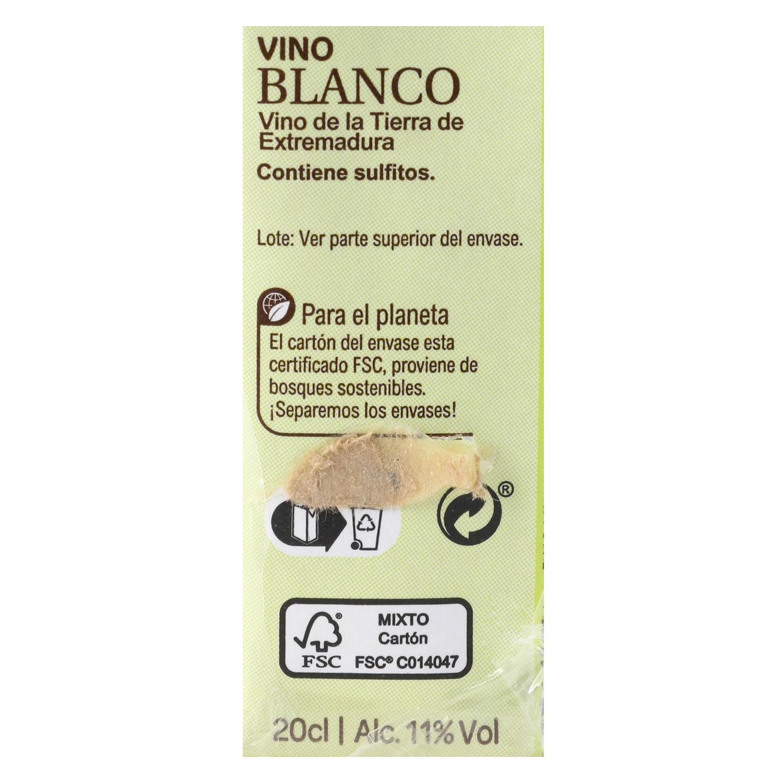 Vino blanco minibrik - 2