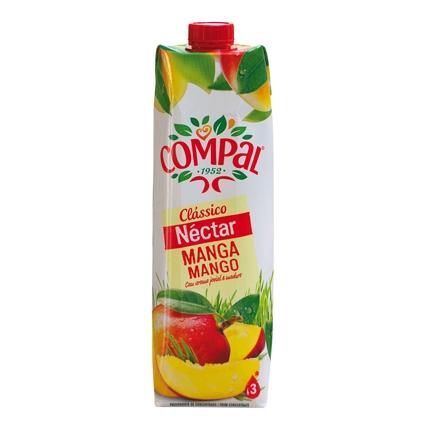 Néctar de mango Compal brik 1l.