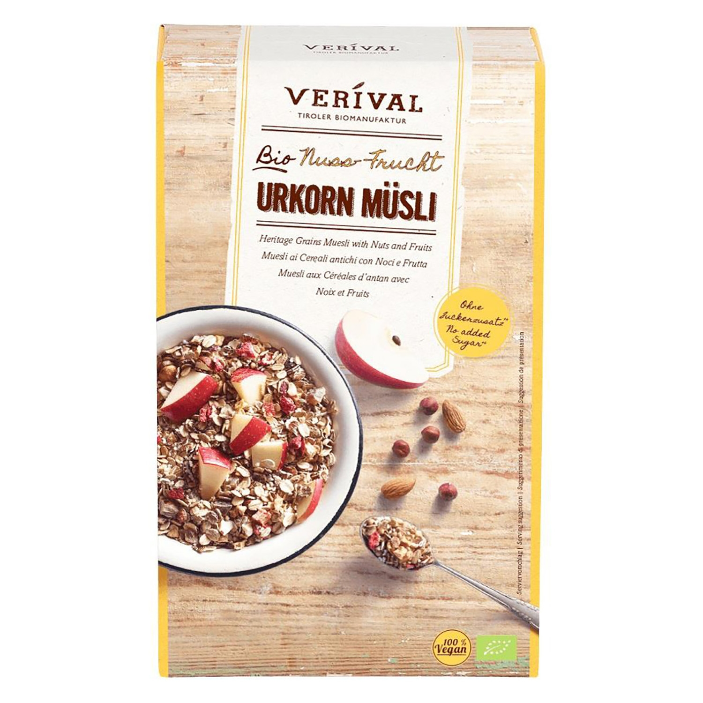 Cereales ecológicos Muesli Veríval 325 g.