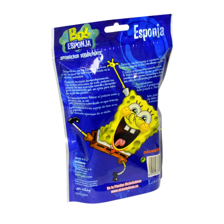 Esponja de baño infantil Bob Esponja Suavipiel 1 ud. -