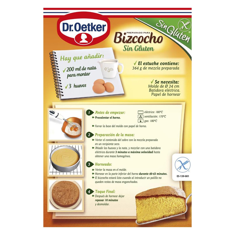 Preparado para bizcocho Dr. Oetker sin gluten 364 g. -