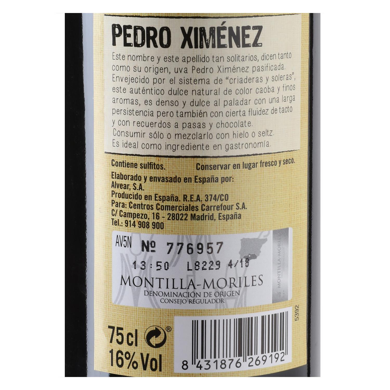 Vino D.O. Montilla Pedro Ximenez De Nuestra Tierra 75 cl. -