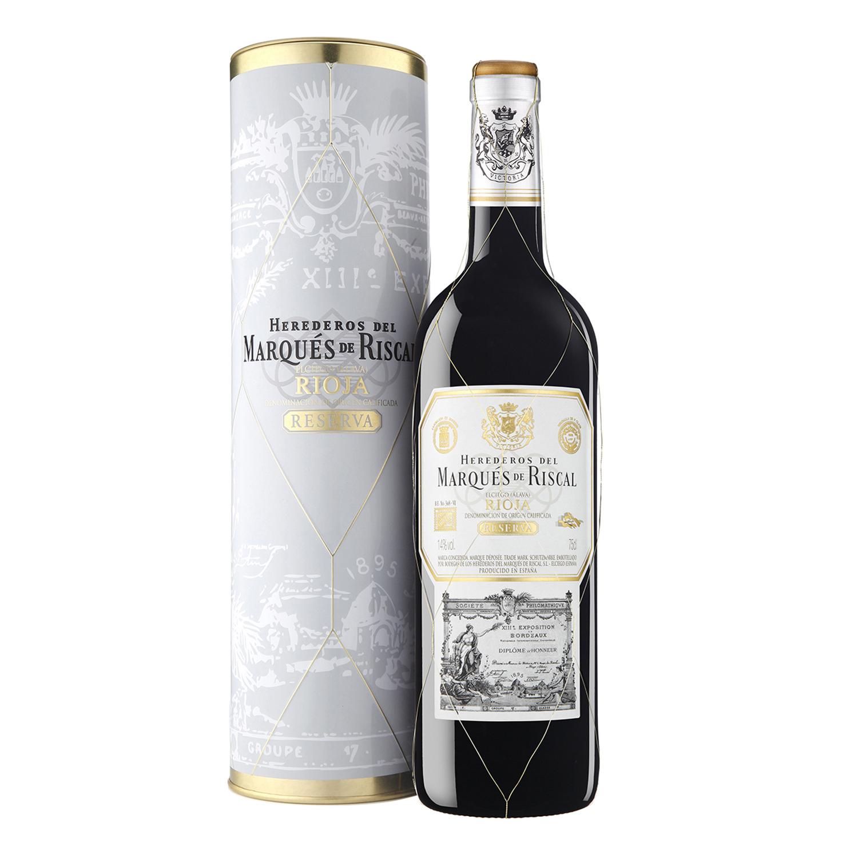 Vino D.O. Rioja tinto reserva Marqués de Riscal 75 cl.