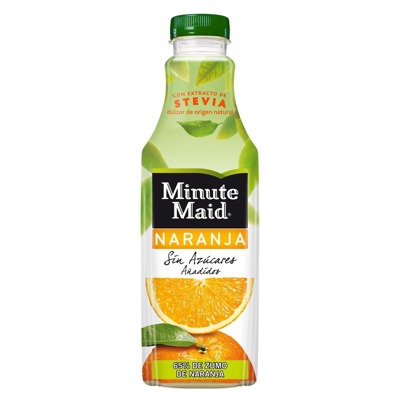 Zumo de naranja Minute Maid sin azúcar añadido con stevia botella 1 l.