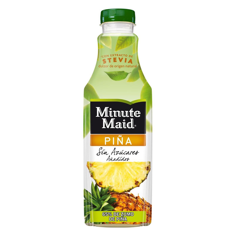 Zumo de piña Minute Maid sin azúcar con stevia botella 1 l.