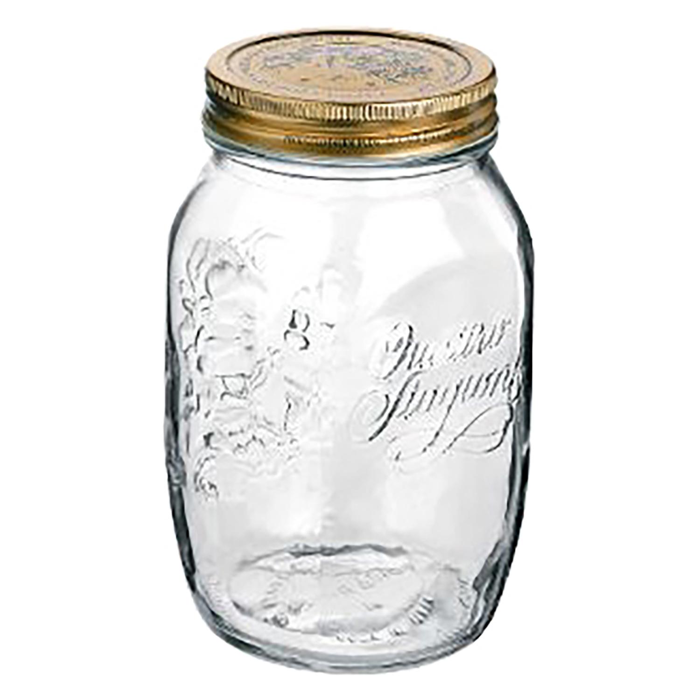 Bote Redondo de Cristal BORMIOLI 4 Estaciones 1 L. - Transparente