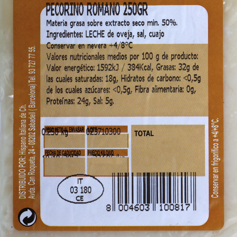 Queso pecorino romano D.O.P. Auricchio Cuña 250 g - 2