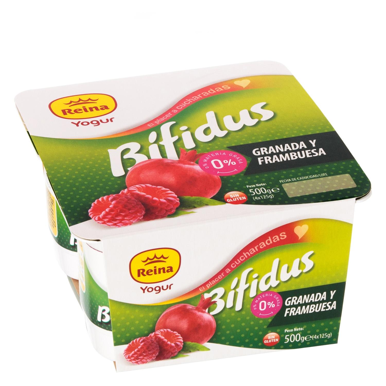 Yogur bífidus de granada y frambuesa