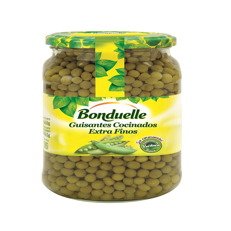Guisantes cocinados extra finos Bonduelle 465 g.