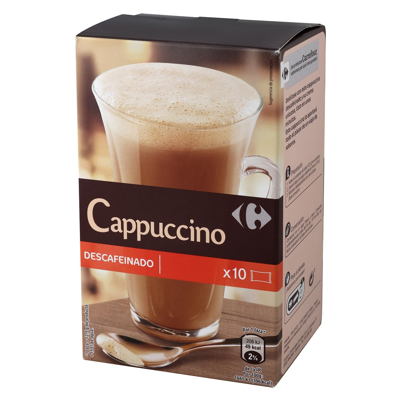 Café soluble mezcla descafeinado Carrefour 125 g.