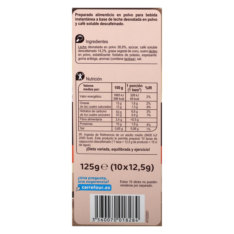 Café soluble mezcla descafeinado Carrefour 125 g. - 2