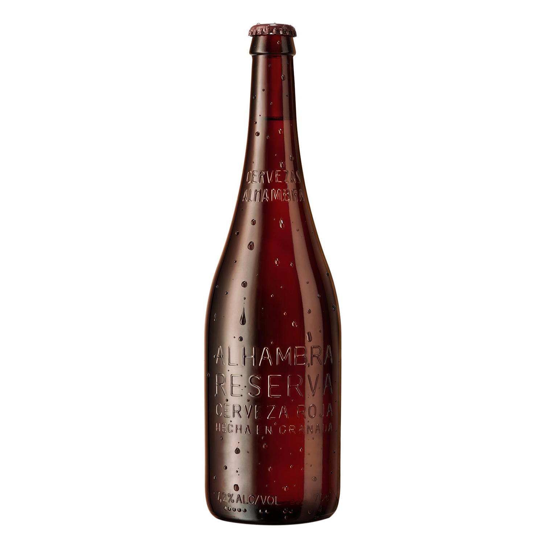 Cerveza Alhambra roja reserva botella 70 cl.