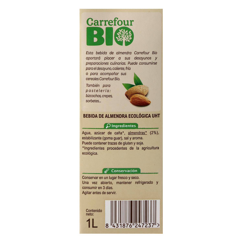 Bebida de almendra ecológica Carrefour Bio brik 1 l. - 2