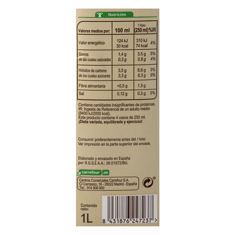 Bebida de almendra ecológica Carrefour Bio brik 1 l. -