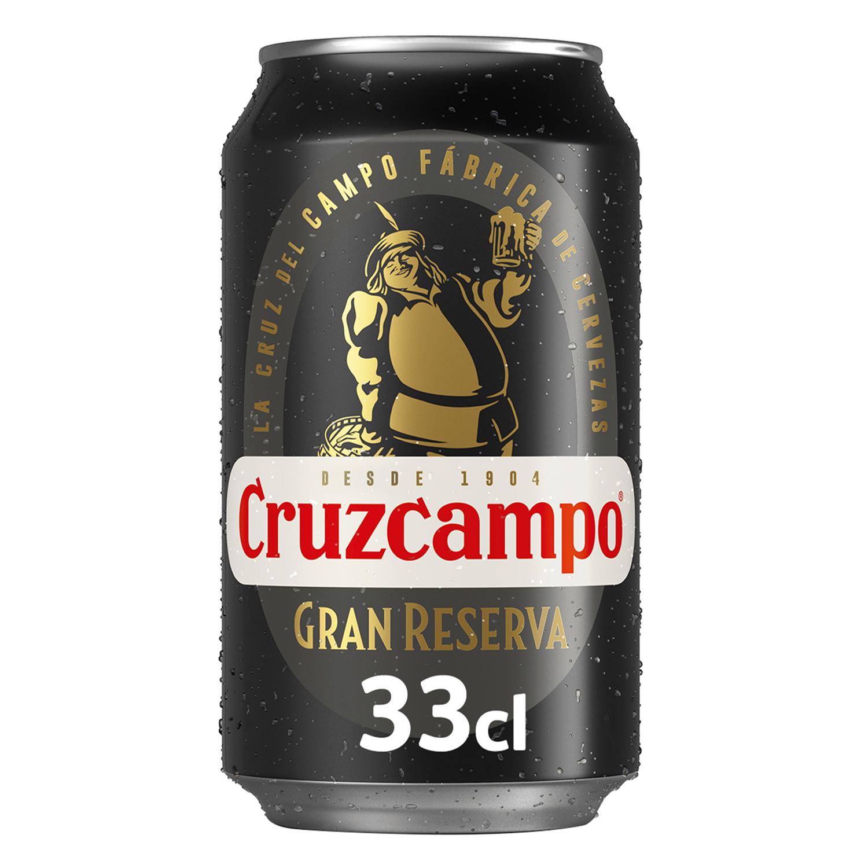 Cerveza Cruzcampo Gran Reserva malta lata 33 cl.