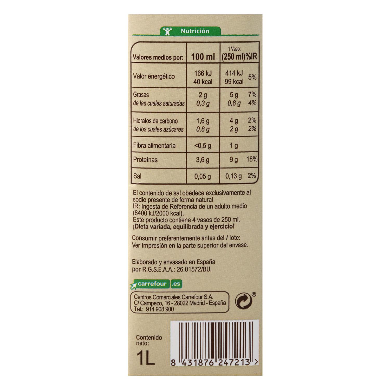 Bebida de soja ecológica Carrefour Bio brik 1 l. -