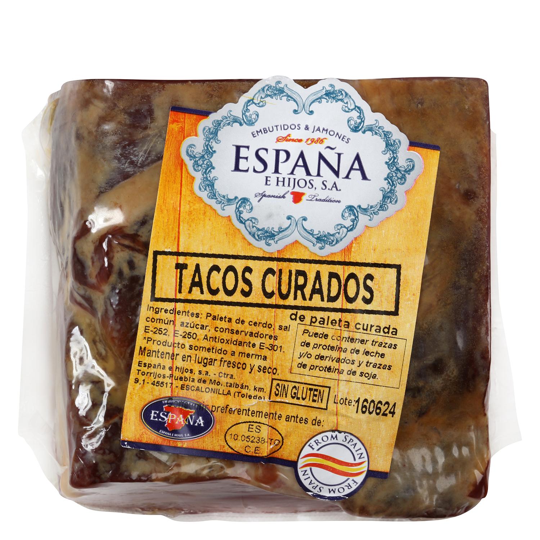 Paleta curada en taco España e Hijos 250 g aprox -