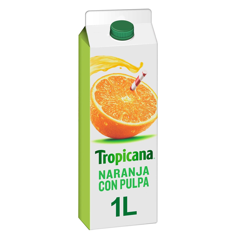 Zumo de naranja Tropicana con pulpa brick 1 l.