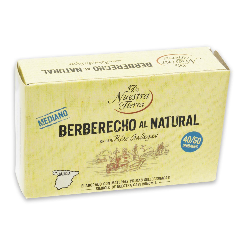 Berberecho al natural 40/50 De Nuestra Tierra 63 g.