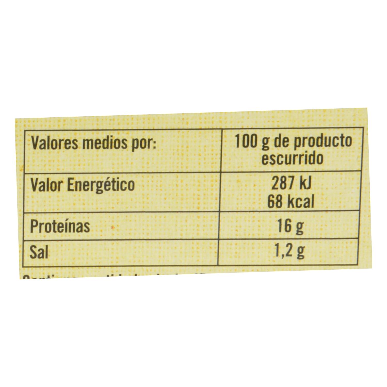 Berberecho al natural 40/50 De Nuestra Tierra 63 g. - 2