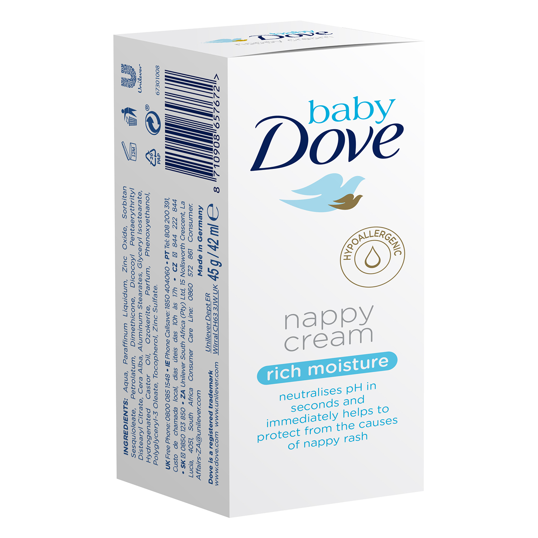 Crema de pañal Baby Dove 45 g.